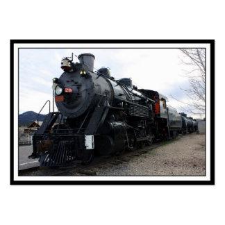 Vintage Railroad Steam Train Business Card