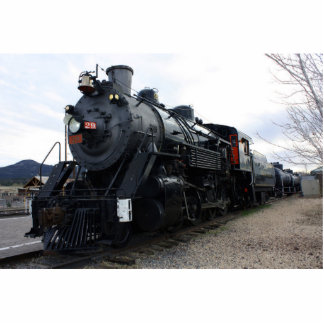 Vintage Railroad Steam Train Photo Sculpture