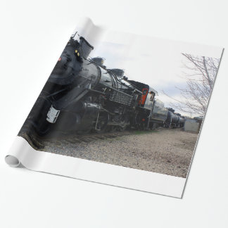 Vintage Railroad Steam Train Wrapping Paper