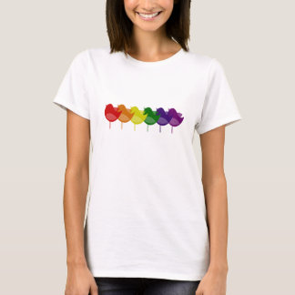 Vintage Rainbow Birds T-Shirt