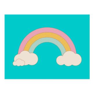 Vintage Rainbow Postcard