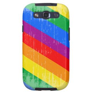 Vintage Rainbow Stripes Galaxy S3 Covers