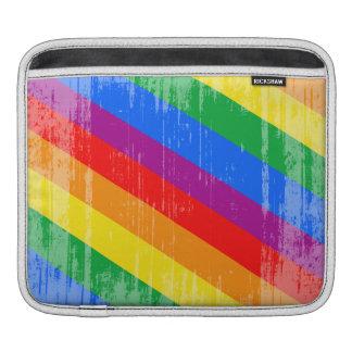 Vintage Rainbow Stripes Sleeve For iPads
