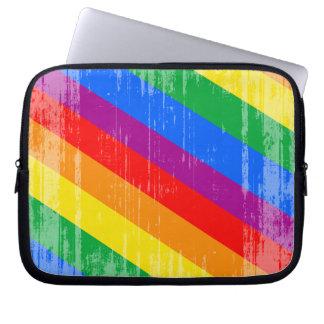 Vintage Rainbow Stripes Laptop Computer Sleeve