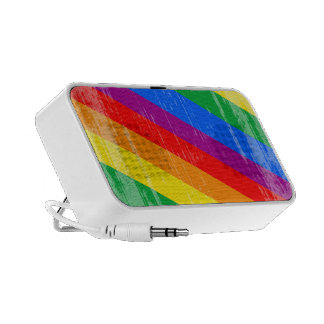 Vintage Rainbow Stripes Mp3 Speakers