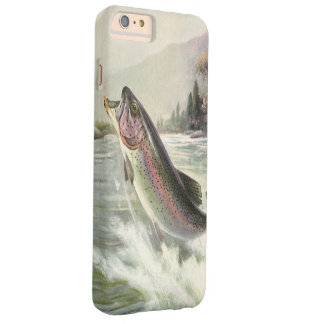 Vintage Rainbow Trout Fish, Fisherman Fishing Barely There iPhone 6 Plus Case