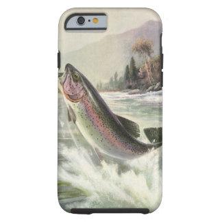 Vintage Rainbow Trout Fish Fisherman Fishing Tough iPhone 6 Case