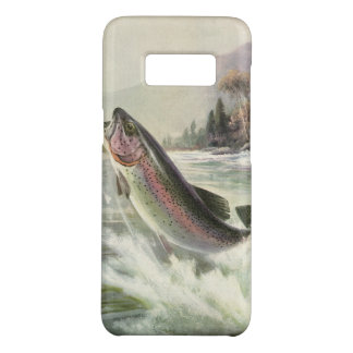 Vintage Rainbow Trout Fish, Fisherman Fishing Case-Mate Samsung Galaxy S8 Case