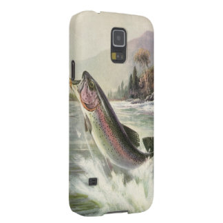Vintage Rainbow Trout Fish, Fisherman Fishing Cases For Galaxy S5