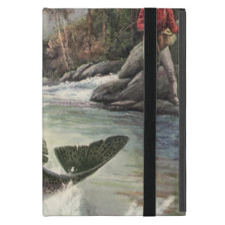 Vintage Rainbow Trout Fish, Fisherman Fishing iPad Mini Case