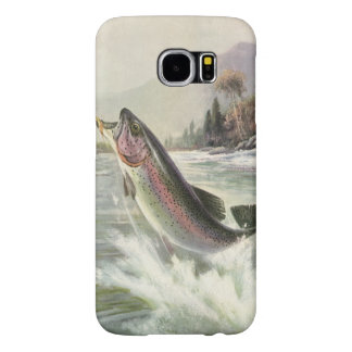 Vintage Rainbow Trout Fish, Fisherman Fishing Samsung Galaxy S6 Cases
