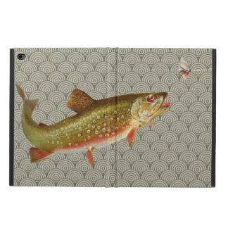 Vintage rainbow trout fly fishing
