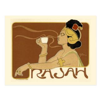 Vintage Rajah Coffee Advertisement Postcard