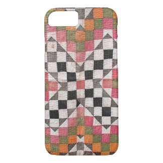 Vintage Ralli Quilt Orange iPhone 8/7 Case