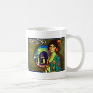 Vintage Ramona Memories Lemons Label Coffee Mug
