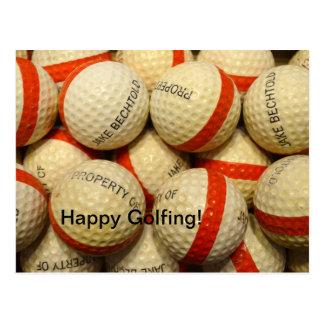 Vintage - Range Golf balls Post Card