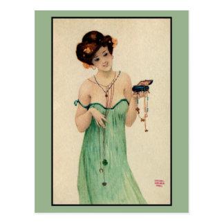 Vintage Raphael Kirchner Paris 1910 ladies fashion Postcard