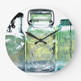 Vintage Rare Lima Ohio Fruit Jar Canning Jars Large Clock