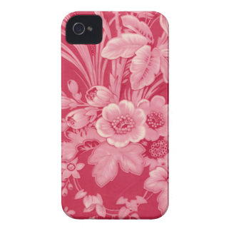 Vintage Raspberry Red Floral iPhone 4 Case