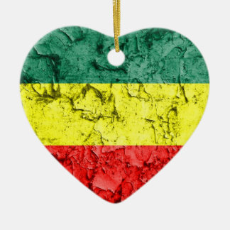 Vintage rasta flag christmas ornament