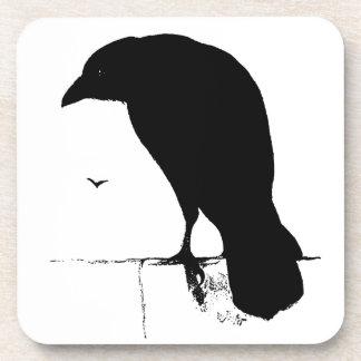Vintage Raven - Customized Goth Crows Ravens Beverage Coasters