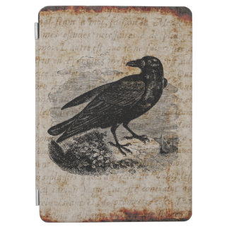 Vintage Raven Silhouette Retro Goth Ravens Birds iPad Air Cover
