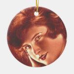 Vintage Ravishing Redhead Ornament