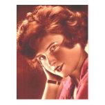 Vintage Ravishing Redhead Post Card