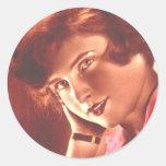 Vintage Ravishing Redhead Sticker