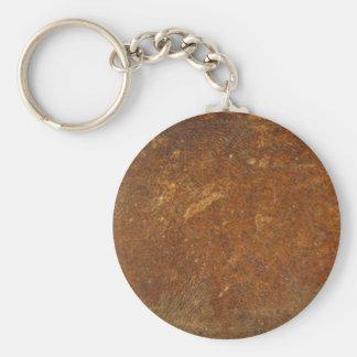 VINTAGE RAW Leather Art Keychain