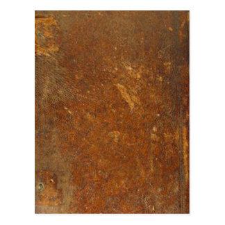 VINTAGE RAW Leather Art Postcard