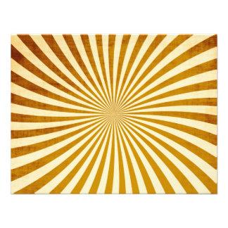 Vintage Rays Design Personalized Invitation