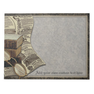 Vintage Reading Personalized Large Notepad