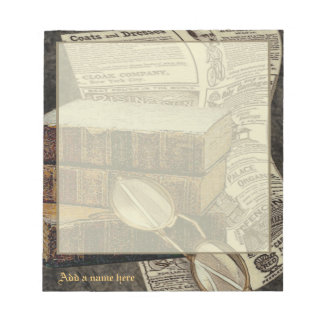 Vintage Reading Personalized Small Notepad
