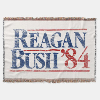 Vintage Reagan Bush '84 Throw Blanket