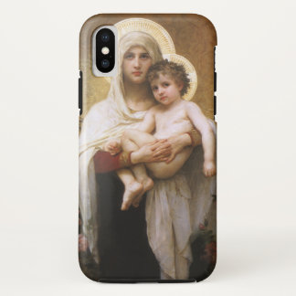 Vintage Realism, Madonna of the Roses, Bouguereau iPhone X Case