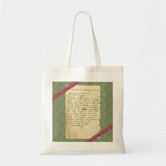 Vintage Recipe Cranberries Orange Relish Tote Bag