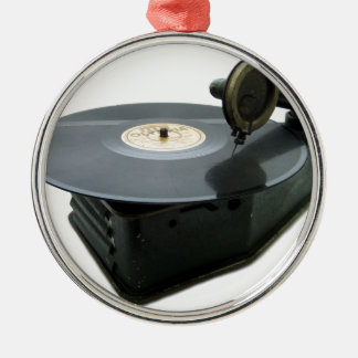 Vintage Record Player Christmas Ornament