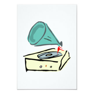 Vintage Record Player Personalized Invitations