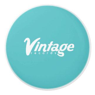 Vintage Records Ceramic Knob