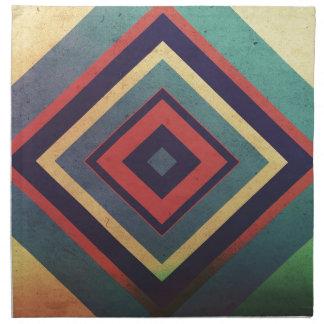 Vintage rectangular colorful napkin