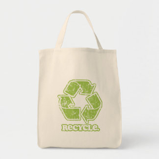 Vintage Recycle Sign Accent Tote Bag