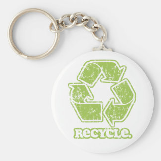 Vintage Recycle Sign Keychain