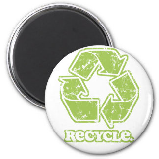 Vintage Recycle Sign Round Magnet