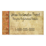 Vintage Recycled Asian Retro Business Card Template