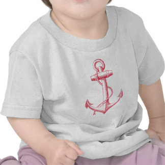 vintage red anchor with rope tee shirts