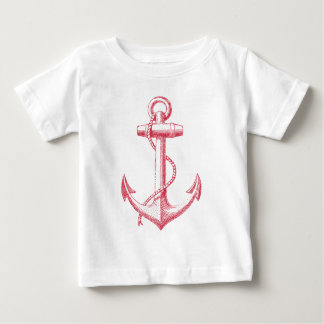 vintage red anchor with rope tshirts