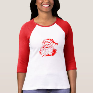 Vintage Red and White Santa Claus T-Shirt