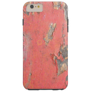 Vintage Red Barn Wood Tough iPhone 6 Plus Case