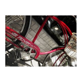 Vintage Red Bicycle #2 Rustic Industrial Acrylic Acrylic Wall Art